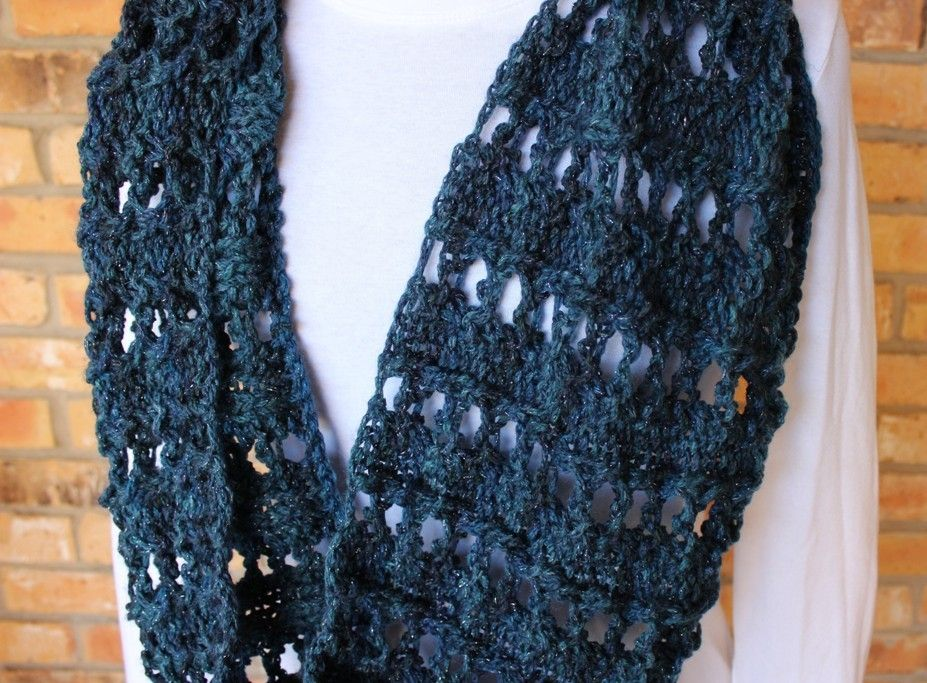 Knitting Pattern for a Lace Eyelet Cowl - knitted gift idea