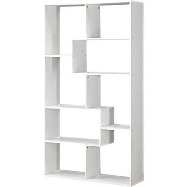 White Bookshelf 8 Shelf Bookcase Storage Wall Rack Organizer Cubby Furniture Mainstays Modern