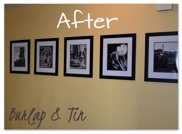 Burlap Amp Tin How To Hang Pictures Perfectly Straight So