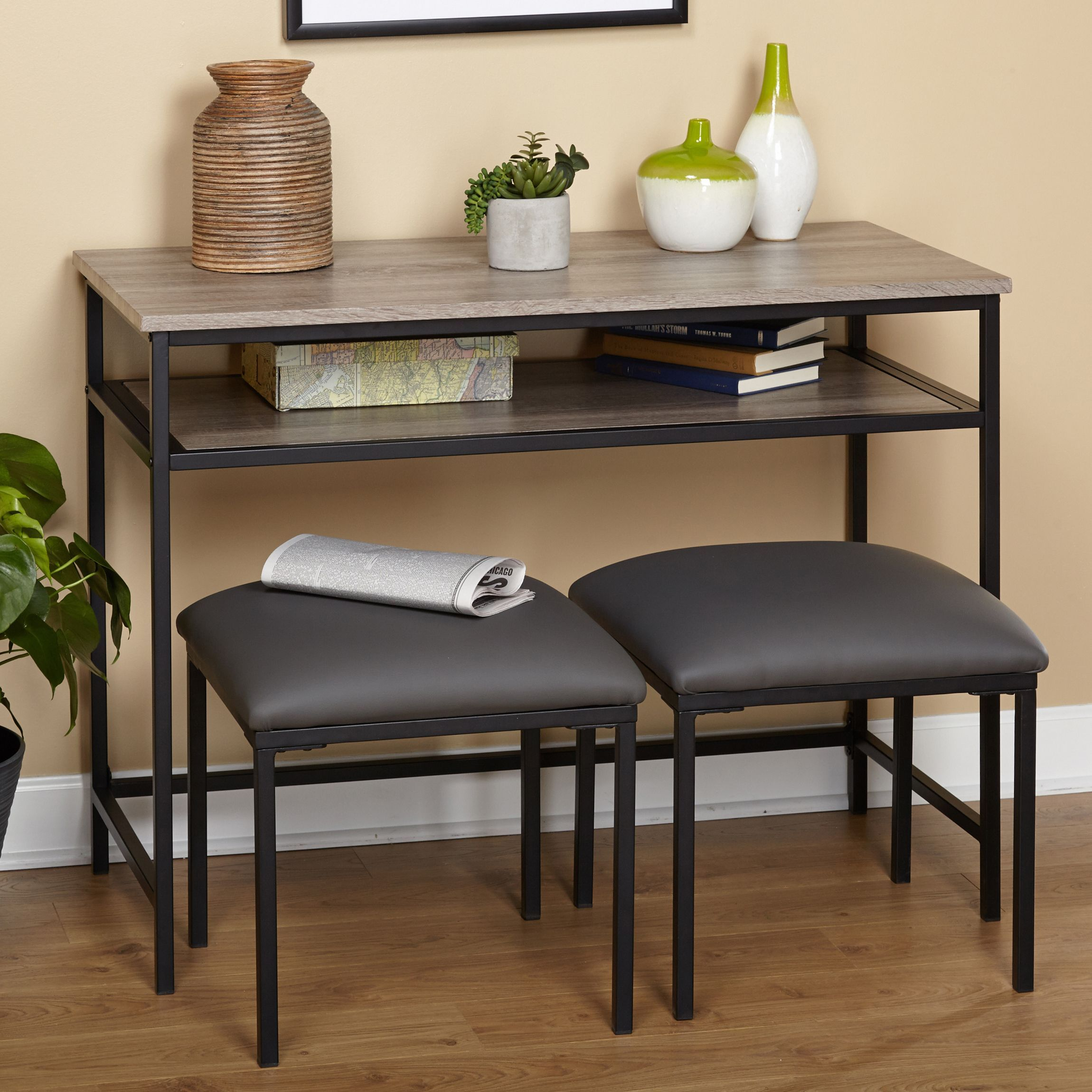 Update your living or office space with the seneca console table update your living or office space with the seneca console table and stool set it geotapseo Choice Image