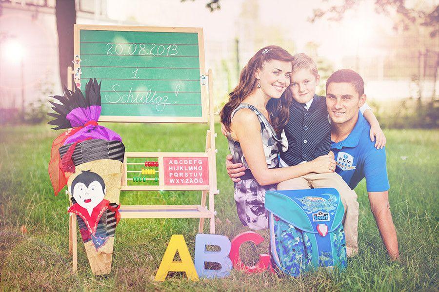 erster Schultag Einschulung Schler erste Klasse ABC