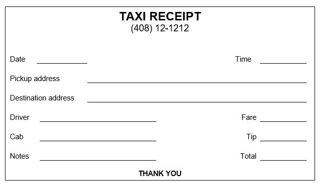 Taxi Bills Format Google Pretrazivanje Receipt Template Invoice Template Word Invoice Template