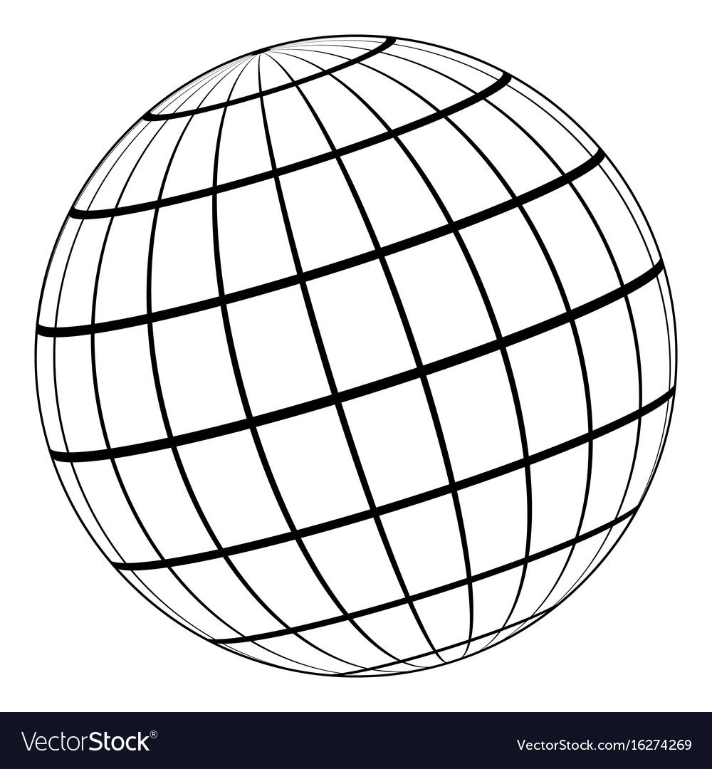 Globe 3d Model Of The Earth Or Of The Planet Model Of The Celestial Sphere With Coordinate Grid Vector Field With S Earth Logo Atlas Tattoo Geometric Drawing