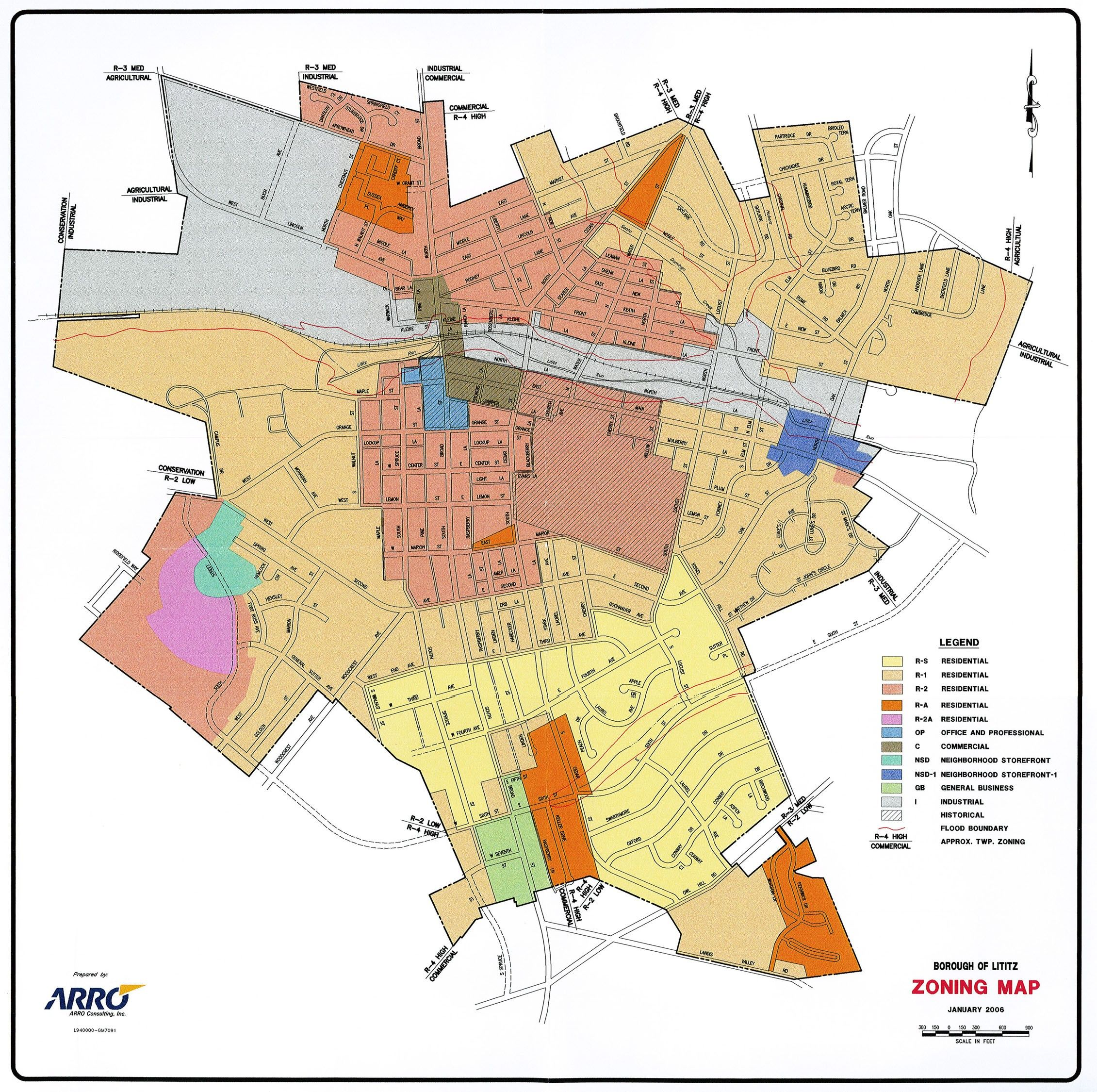 Site Map Example: This Image Shows A Map Of Zoning In An Example City. Cities Are Zoned Into Different Districts