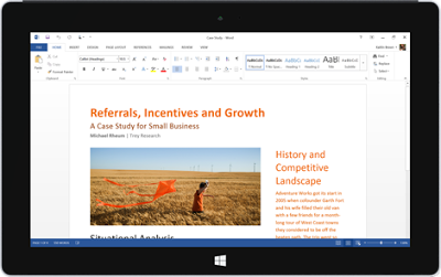 Microsoft launches Office Mobile apps (Word Excel PowerPoint & OneNote) for Windows 10 tablets. #NewsEden #WindowsPhone #Lumia #Microsoft @NewsEden