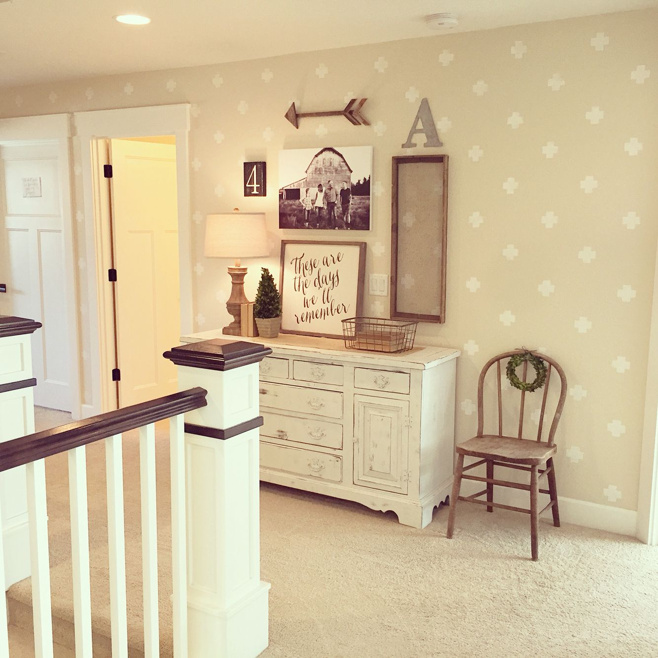 Added some fun and interest to an upstairs hall with this cute ...