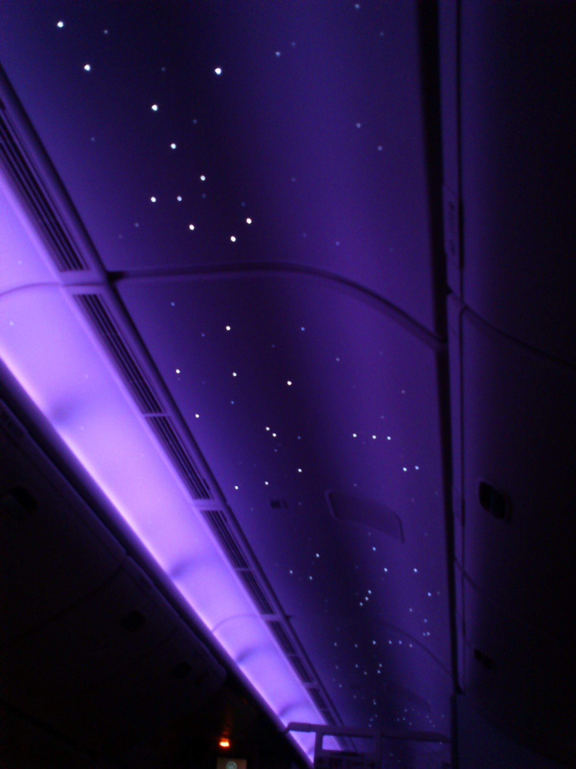 Starlight Lighting In The Ceiling Of Emirates Airlines
