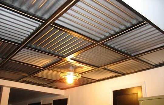 plafond en t le ondul e que j 39 ai fais chez moi maison en 2018 pinterest plafond tole. Black Bedroom Furniture Sets. Home Design Ideas