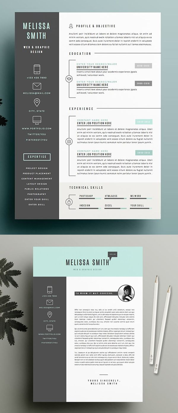 Creative Resume Template Pack  Stationary  Cv