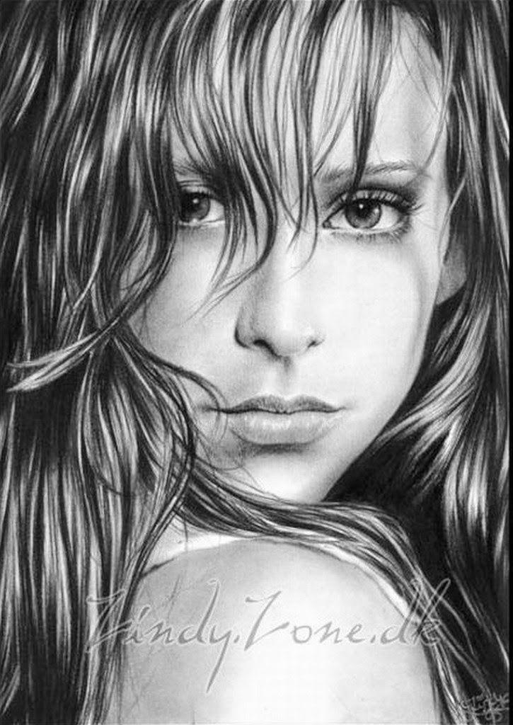 pinturaretratosdemujeresendibujosalapiz  dibujos de lapiz