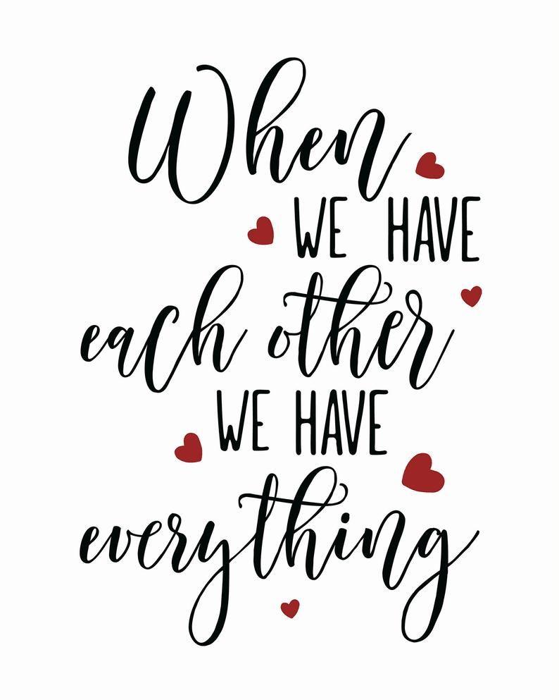 Wedding Gift, Each Other Quote, Wedding Card, Wedd
