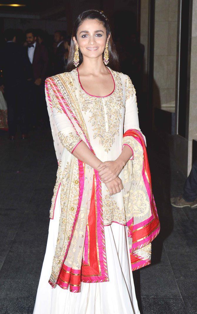 Alia Bhatt at Masaba Gupta, Madhu Mantena\'s wedding reception ...