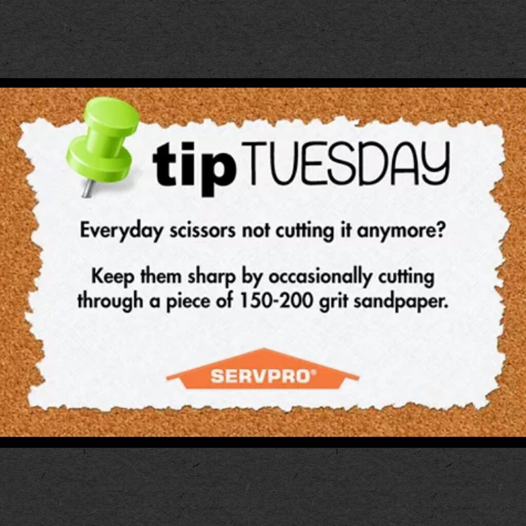 Tip Tuesday from SERVPRO of East Riverside City. Help you