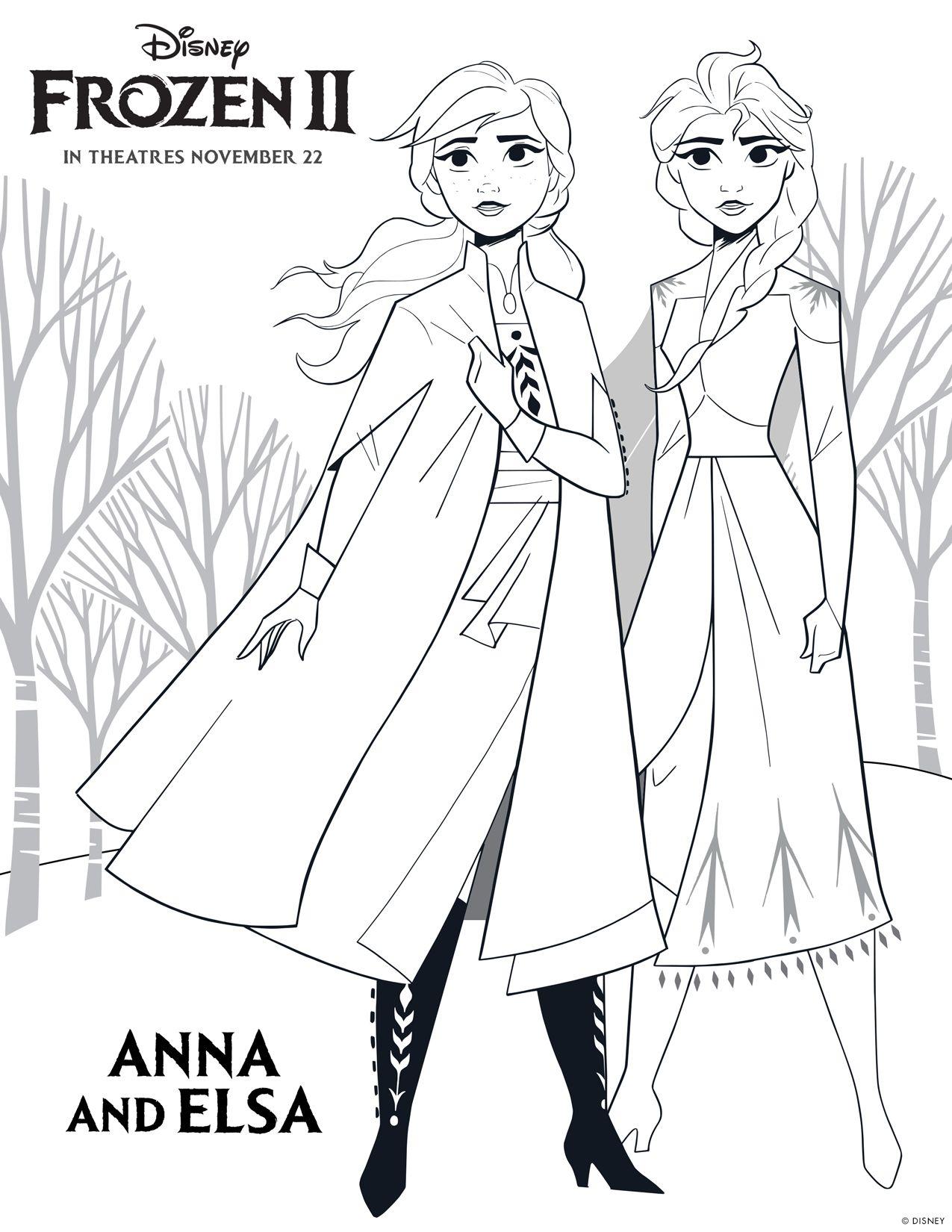 Dibujos Para Colorear Y Pintar Gratis De Frozen 2 De Disney Frozen Para Pintar Frozen Para Colorear Colorear Disney