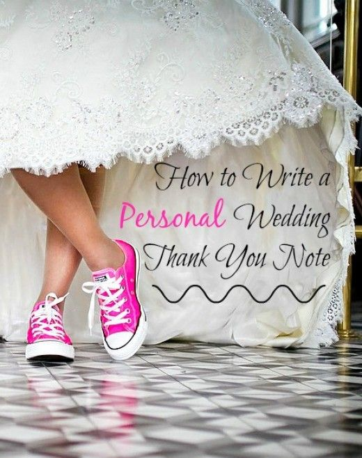How To Write A Personal Wedding Thank You Note  Note Wedding And