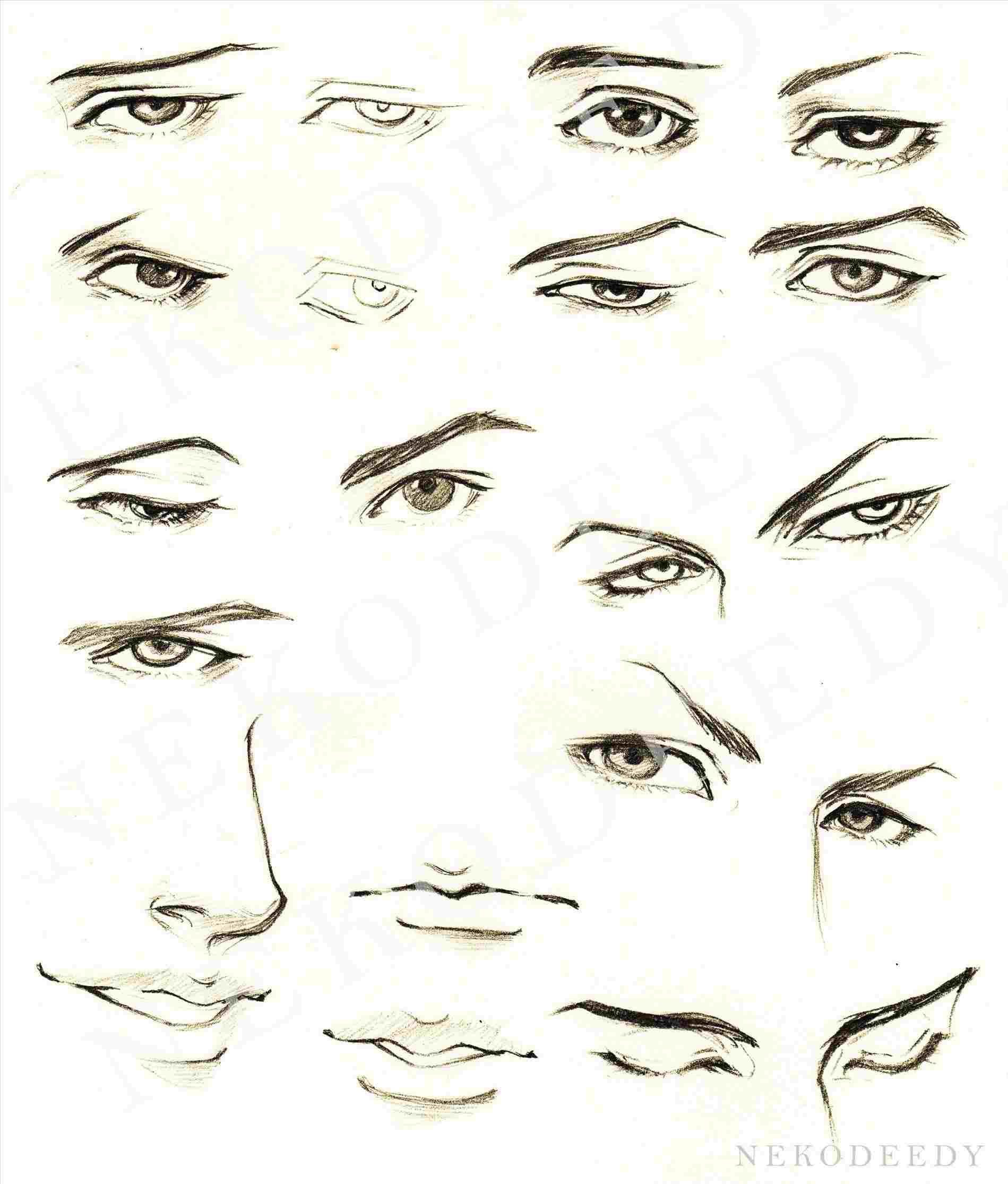 Anime Boy Eyes Google Search Eye Drawing Tutorials Face Drawing Guy Drawing