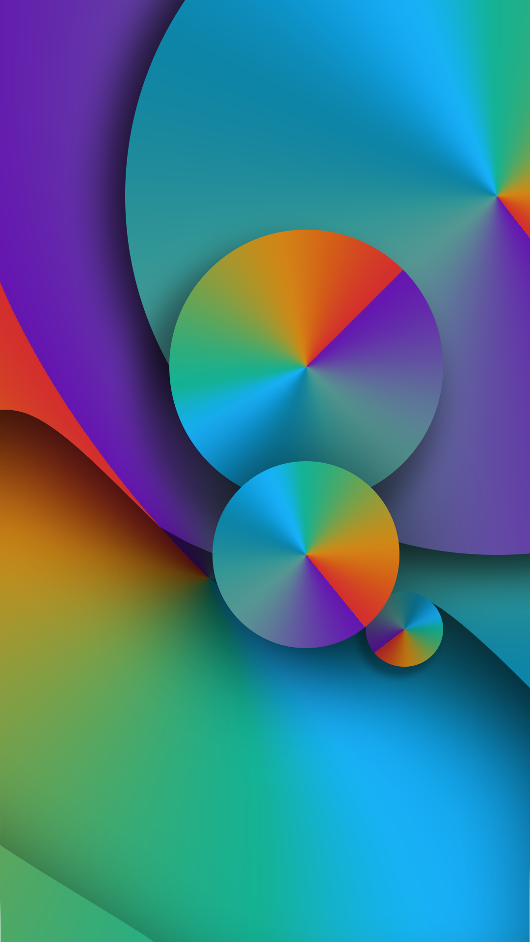 colorful circle abstract wallpaper | *abstract and geometric