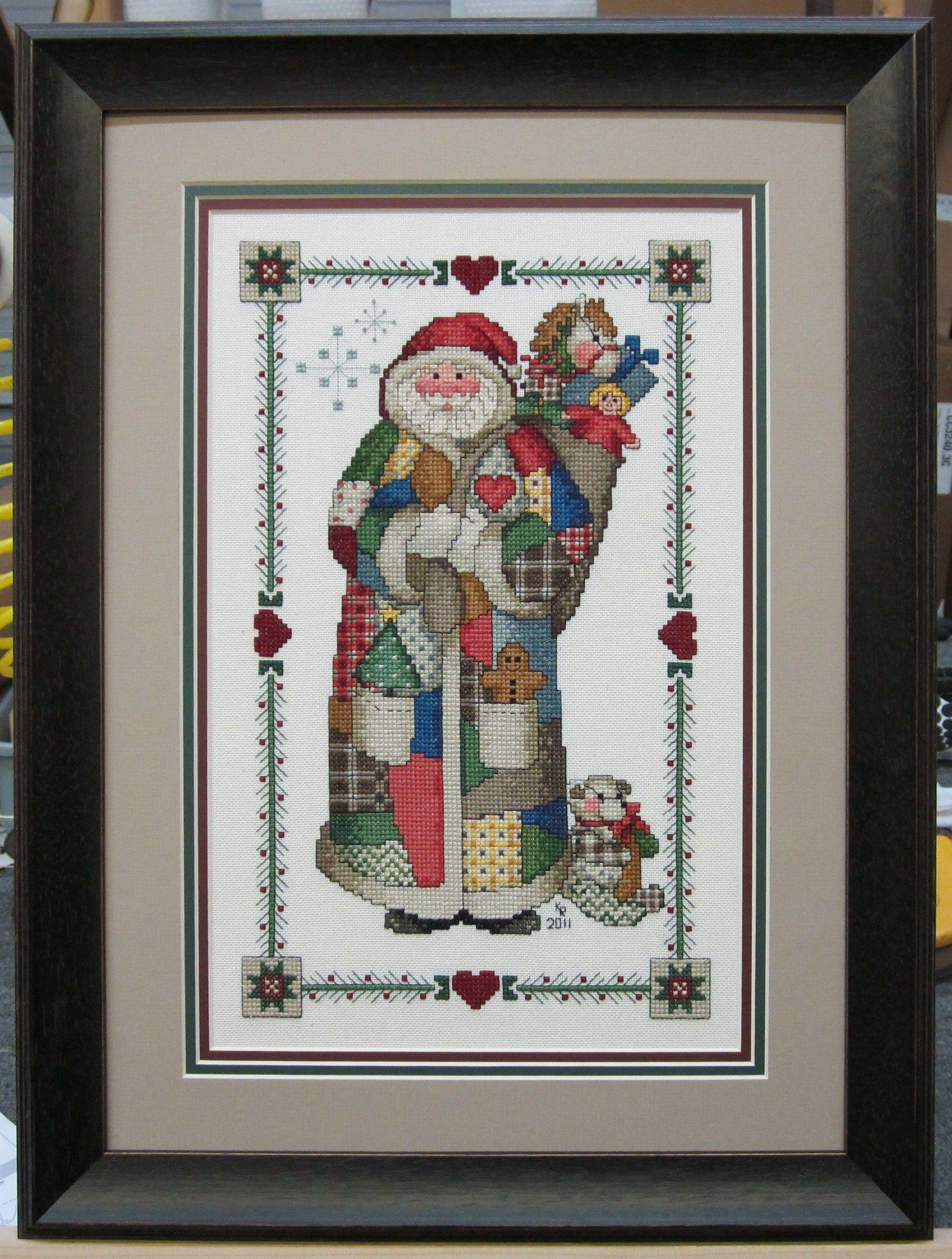 Cross stitch with triple mat and Larson-Juhl frame. Beautifully ...