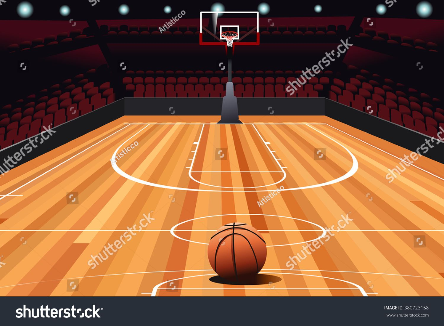 A Vector Illustration On Floor Of Empty Basketball Court Ad Affiliate Floor Illustration Vector Court In 2020 Clip Art Basketball Vector