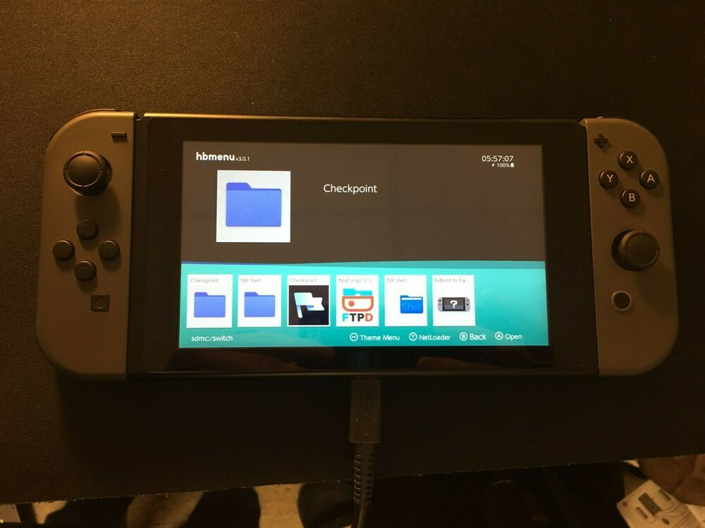 Homebrew CFW UNBANNED Nintendo Switch 32GB Gray Console