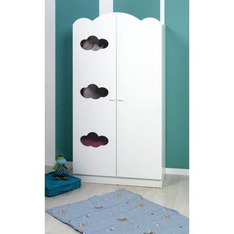 Armoire Bebe Armoire Bebe Blanc Nuages Tall Cabinet Storage 2 Door Wardrobe Locker Storage