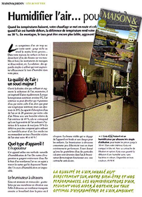 Janvier 2013  Maison Jardin publie un article concernant l - deshumidificateur d air maison