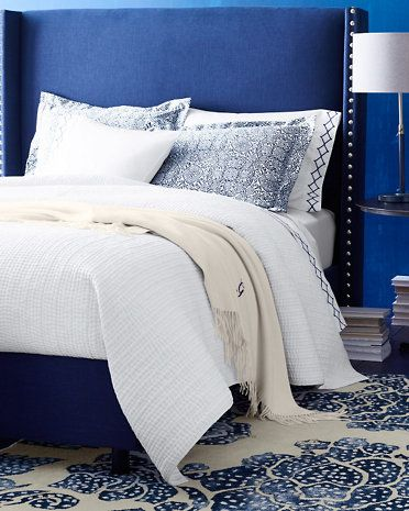Signature Wrinkle-Resistant Arabesque Sateen Bedding by Garnet Hill