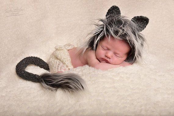Uk sellernewborn wolf bonnetcrochet newborn wolf photography propwolf hat diaperfur bonnetnewborn boy hatnewborn boy propwolf hat