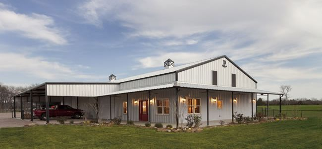 Fantastic Metal Building Home U0026 A Shop Under One Roof In Texas (7 Pictures)