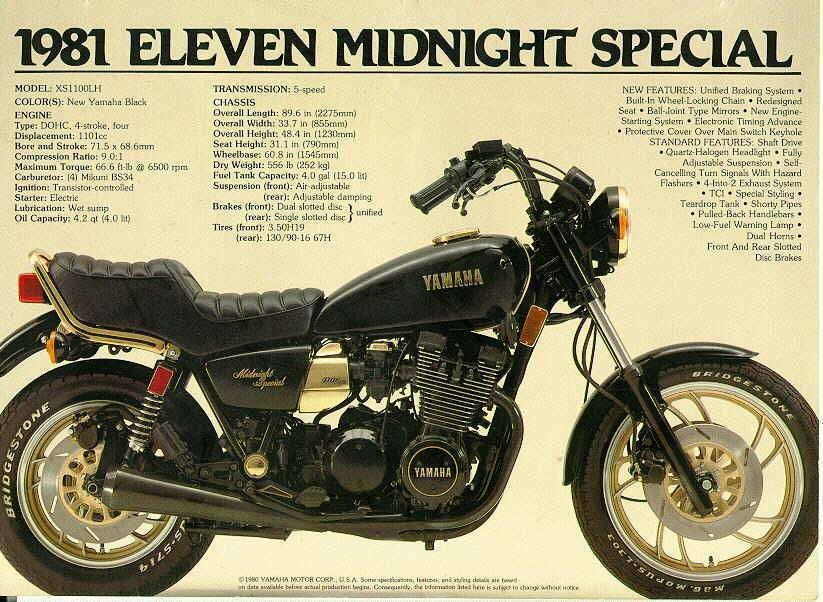 Yamaha Xs1100sf Midnight Special Yamaha Xs1100