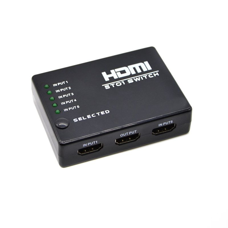 5 Port HDMI Switch Switcher HDMI Splitter HUB with IR Remote