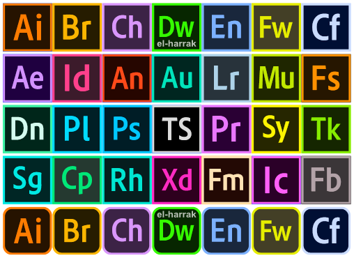Download font adobe color Logos Programs adobe | Vecteurs