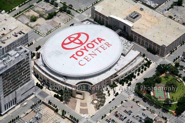 toyota center - houston home of the rockets. saw a number of games