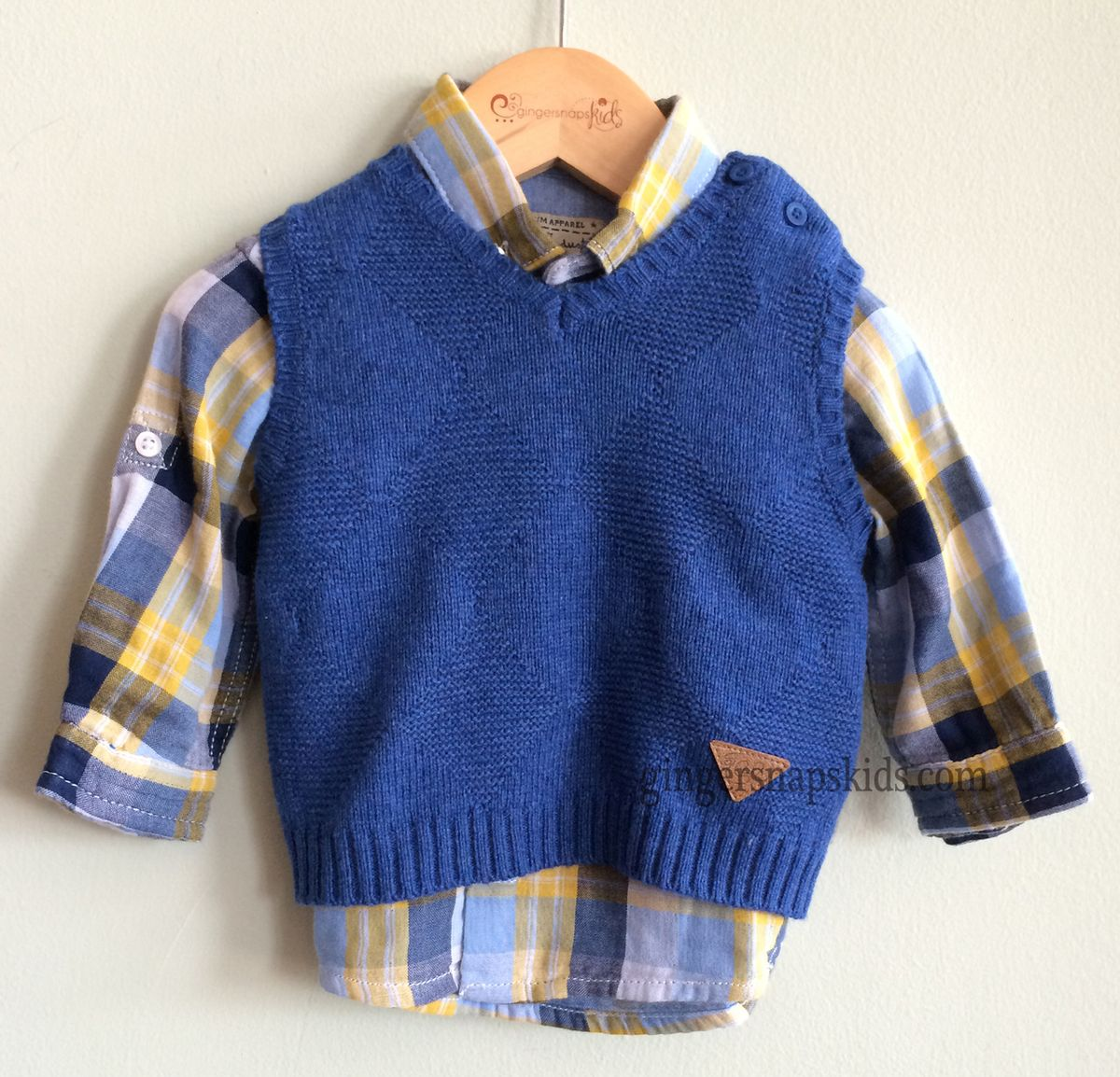 Gingersnaps Kids Boutique - Mayoral Boys Blue Sweater Vest (sz 3mo ...