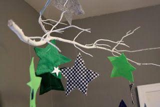 using a branch as decor
