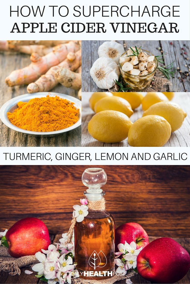 how to supercharge apple cider vinegar with turmeric, ginger