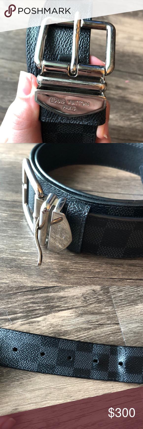 Authentic Louis Vuitton Damier Print 40mm Belt | Authentic ...