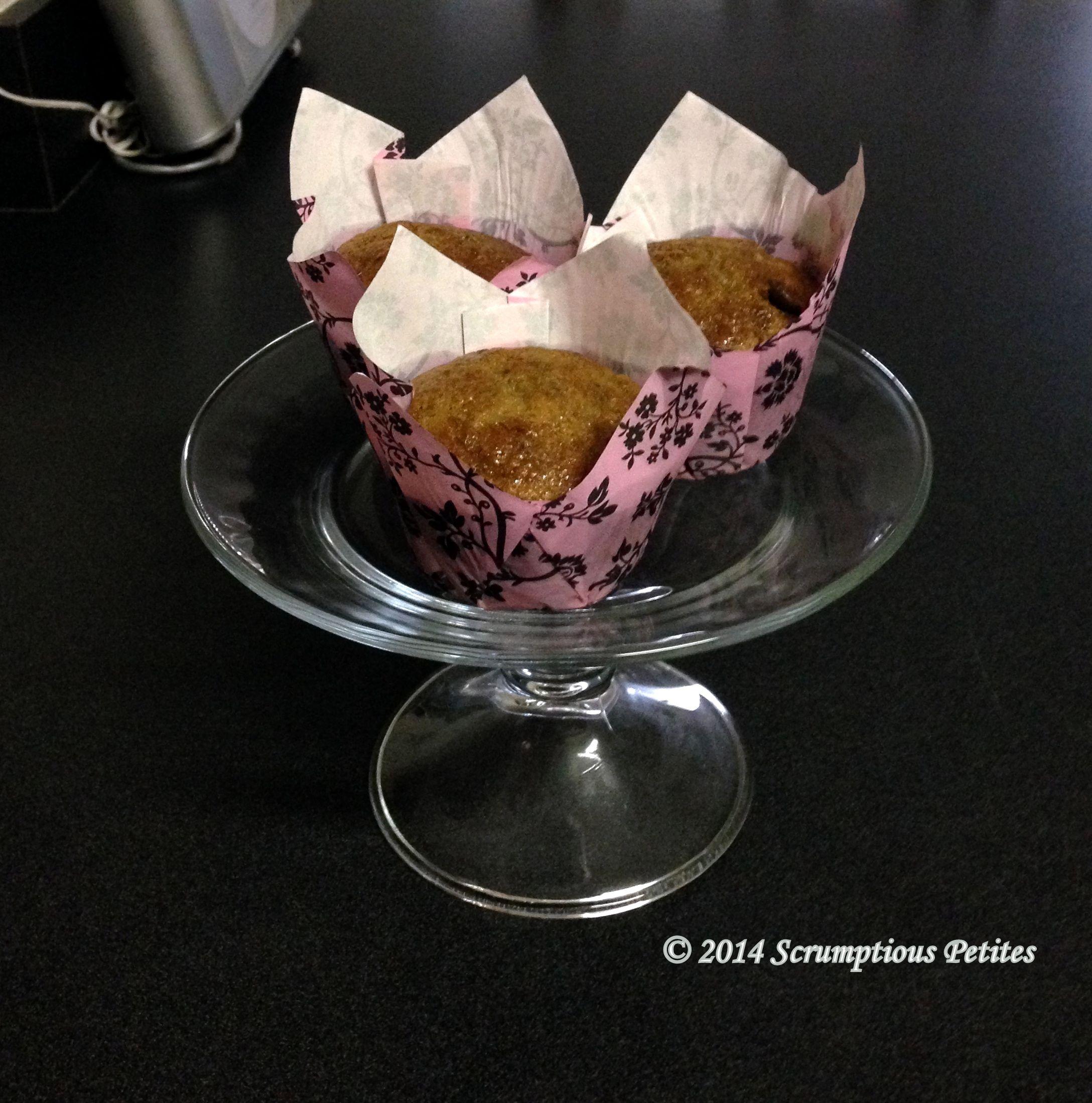 2014 Cancer Awareness Month - week 3 - Chunky Monkey Muffins http://www.scrumptiouspetites.com https://www.facebook.com/ScrumptiousPetites