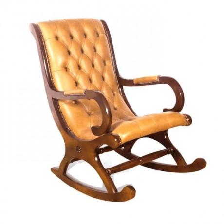 جلد طابا منجد كرسي هزاز مبطنكرسي هزاز Rocking Chair Chair Furniture