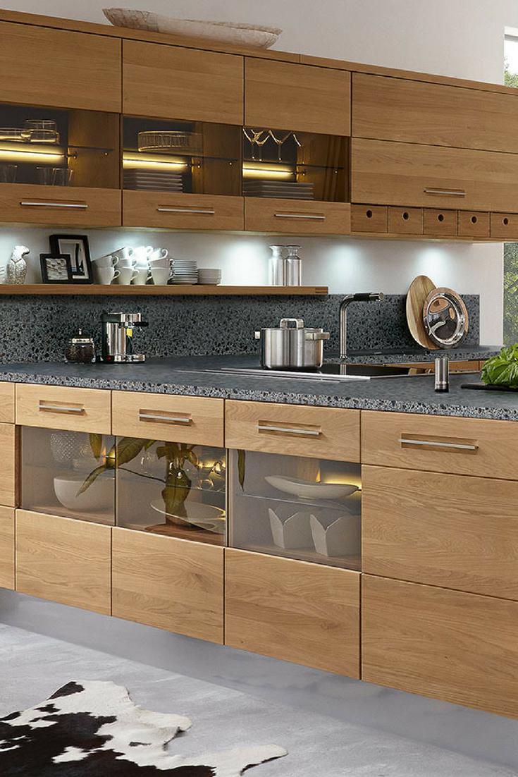 6 Einrichtungsideen Und Kuchenbilder Fur Moderne Holz Kuchen Massivholzkuchen Kuche Holz Holzkuche