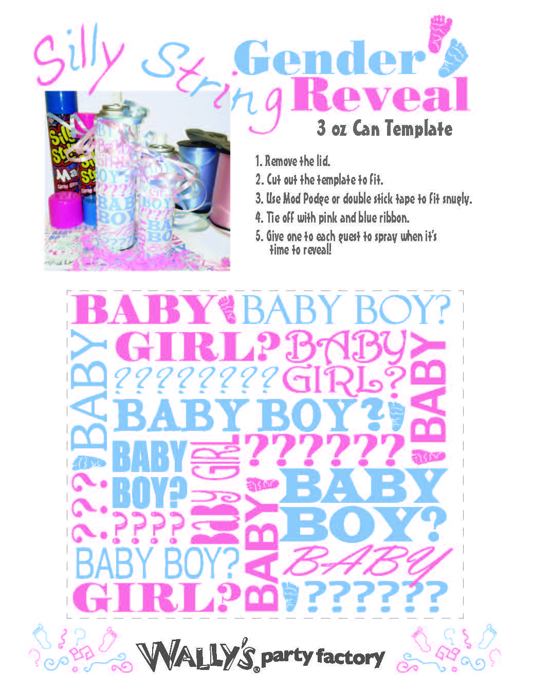 Printable for silly string cans. Gender reveal | Baby | Pinterest ...