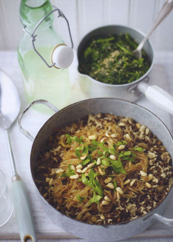 Egyptian rice recipe with green lentils and caramelized onions egyptian food forumfinder Gallery