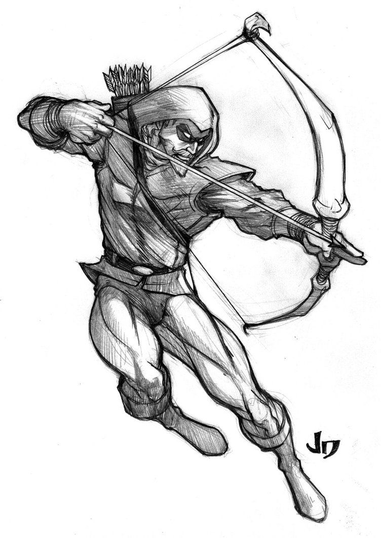 Green Arrow. Just An Sketch | Stuff | Pinterest | Green Arrow Comic And Batman