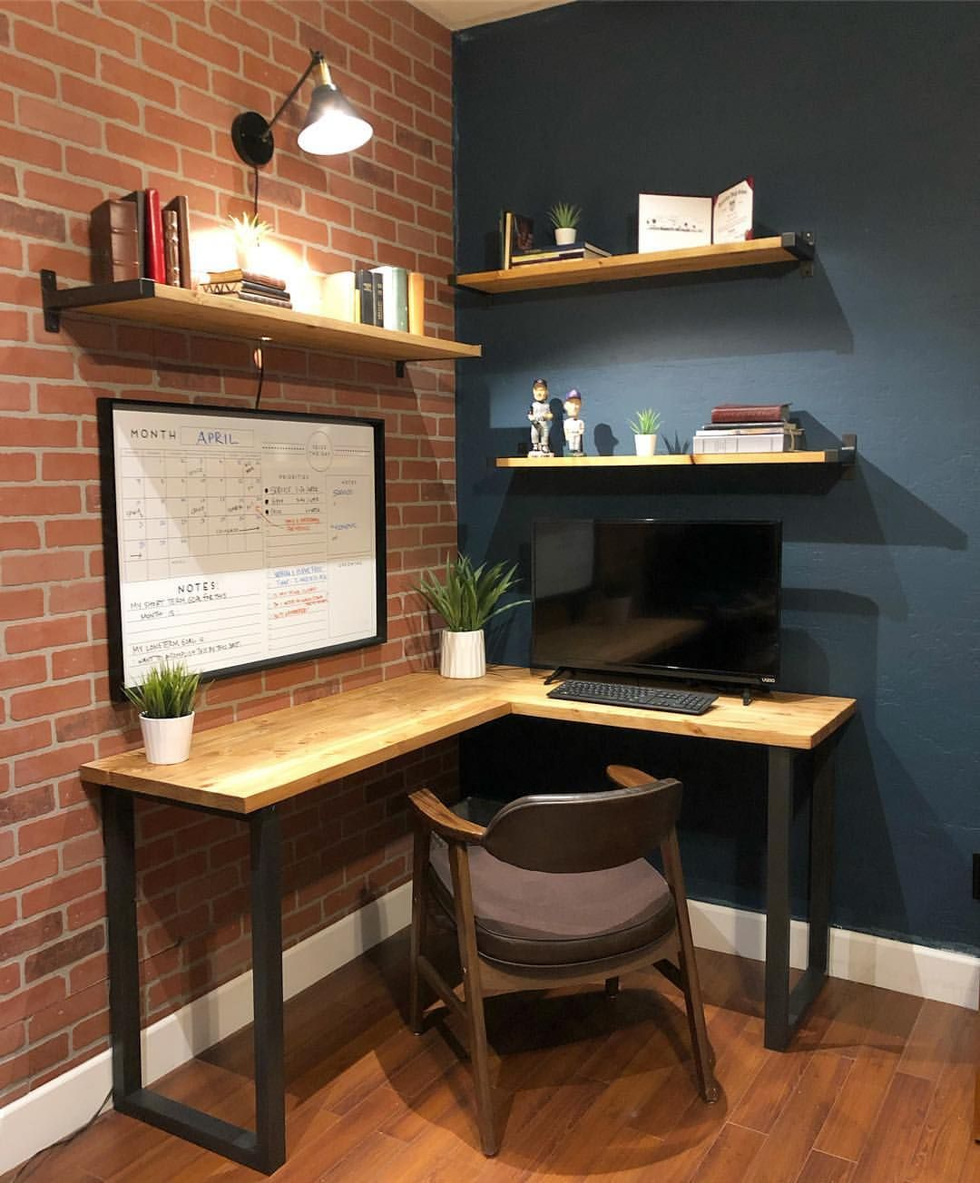 House Of Rumours Houseofrumours Corner Desk Shelves Desk In Living Room Diy Corner Desk Home Office Setup