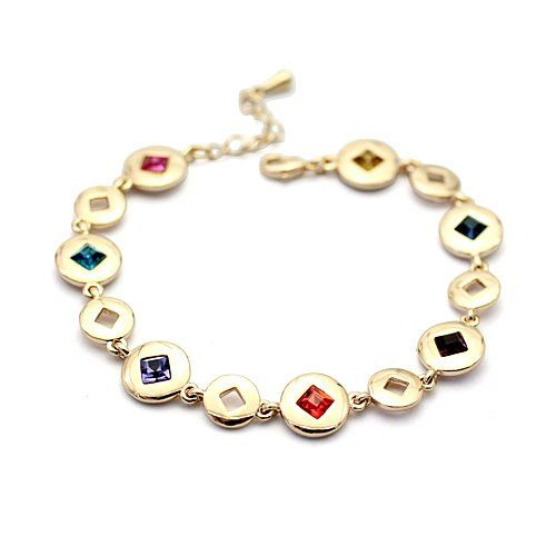 K-DESIGN : New style Fashion Italina Rigant 18K Gold Plated Bracelet with Austrian Crystal for women >>> Find out more about the great product at the image link.