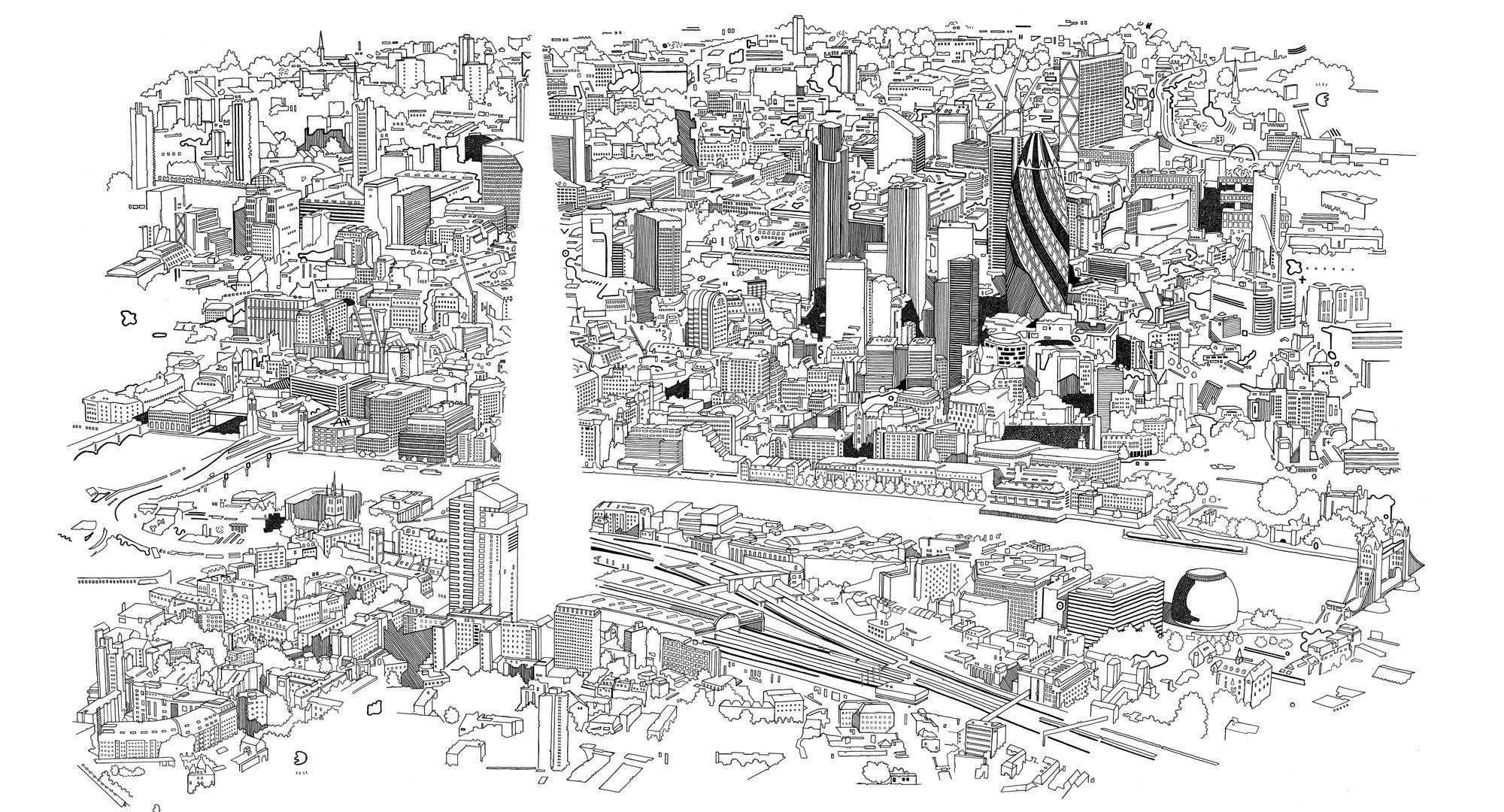 Resultado de imagen de vacio lleno trama urbana barcelona
