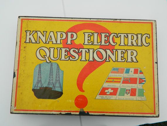 Vintage 1930 S Knapp Electric Questioner No 325 Answers Etsy Vintage 1930s Vintage Vintage Toys