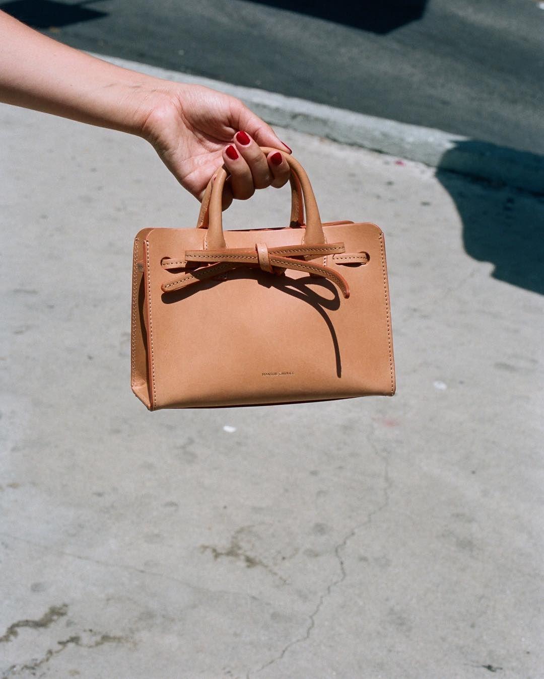 Mini Mini Sun Bag Cammello Bags Kate Spade Top Handle Bag Mansur Gavriel Mini