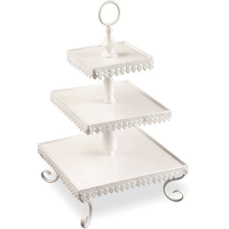 National Tree Artificial 21 Three Tier Serving Rack Walmart Com In 2020 Tiered Server National Tree Company Tiered