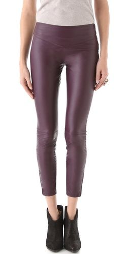 Blank Denim Vegan Faux Leather Leggings. I'm unopposed to a nice filet mignon now and then so for me this is less of a philanthropic pick as it is my utter lust for all things aubergine ( a sexier, more French way of defining this color)